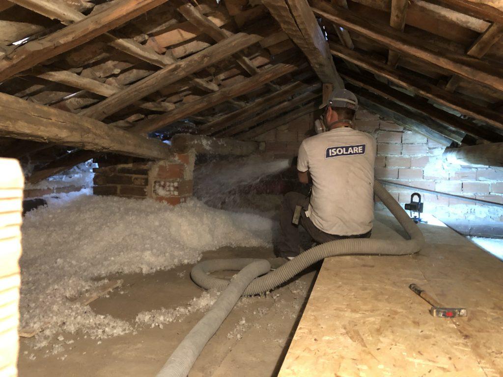 isolamento tetto con lana vetro